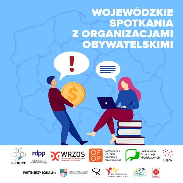 Plakat - spotkania z NGO świętokrzyskie 01